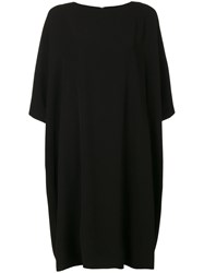 Y's Slouched Shift Dress Women Polyester Triacetate 1 Black
