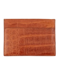 Walter Steiger Crocodile Card Holder Cognac
