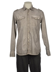 Original Vintage Style Long Sleeve Shirts Dove Grey