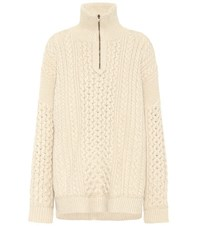 Chloe Exclusive To Mytheresa.Com Wool And Cashmere Sweater Beige