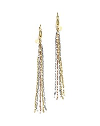Bloomingdale's 14K Yellow White And Rose Gold Five Strand Earrings Multi