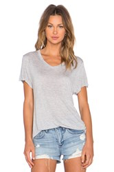 Zoe Karssen Loose Fit V Neck Tee Light Gray