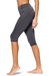 Women's Ivy Park 'V' Mid Rise Capri Leggings Dark Grey Marl