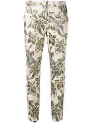 Christian Pellizzari Printed Cigarette Trousers Nude Neutrals