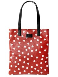 Dolce And Gabbana Polka Dot Coated Canvas Bag