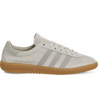 Adidas Bermuda Leather Trainers Clear Brown Gum