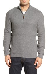 Nordstrom Men's Men's Shop Texture Cotton And Cashmere Quarter Zip Sweater