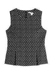 Diane Von Furstenberg Polka Dot Shell With Inverted Pleats Dots