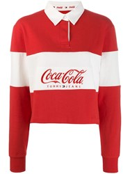 Tommy Jeans X Coca Cola Polo Shirt Red