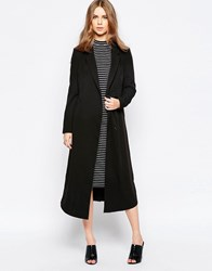 Minimum Moves Longline Boyfriend Coat Black