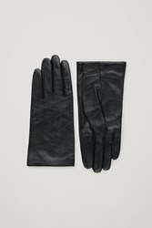 Cos Soft Leather Gloves Black