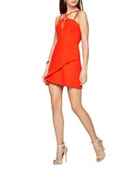 Bcbgmaxazria Linzee Cutout Dress Red