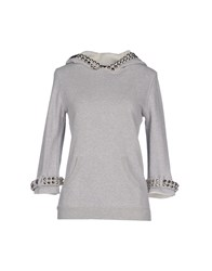 Bad Spirit Topwear Sweatshirts Women Light Grey