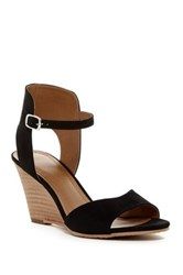 14Th And Union Lyric Wedge Sandal Black Faux Suede