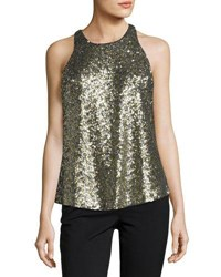 Milly Marie Sleeveless Sequined Top Black