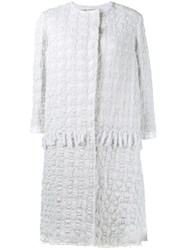 By Walid Crocheted Coat White