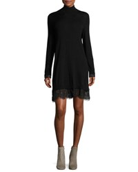 Joie Fredrika B Turtleneck Lace Dress Black