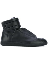 Maison Martin Margiela Future Hi Top Sneakers Men Calf Leather Leather Rubber 44 Black