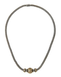 John Hardy Three Bead Dot Chain Necklace