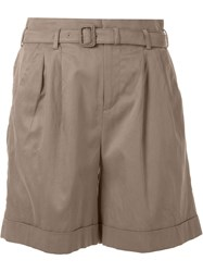 Loveless High Waisted Shorts Brown