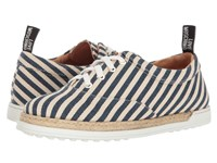 Love Moschino Striped Canvas Shoe Navy
