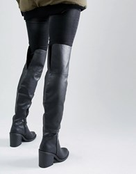 New Look Over The Knee Boots Black