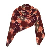 Chesca Soft Floral Print Blanket Scarf Cranberry