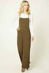 Forever 21 Contemporary Cami Jumpsuit Dark Olive
