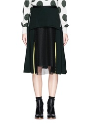 Toga Archives Mesh Panel Jersey Midi Skirt