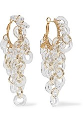 Rosantica Sound Gold Tone And Resin Earrings One Size