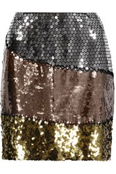 Moschino Sequined Silk Mini Skirt Multi