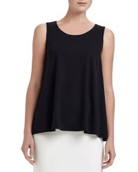 Lafayette 148 New York Swing Tank Top Black