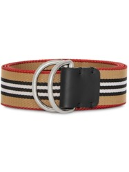 Burberry Heritage Stripe Double D Ring Belt Yellow