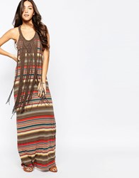 Denim And Supply Ralph Lauren Denim And Supply By Ralph Lauren Short Sleeve Fringe Tank Dress Cabin Stripe Multi