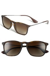 Women's Ray Ban 'Youngster' 54Mm Square Keyhole 54Mm Sunglasses Brown