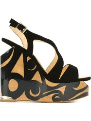 Paloma Barcelo 'Agata' Wedge Sandals Black