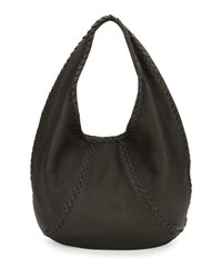 Bottega Veneta Cervo Large Leather Hobo Bag Gray