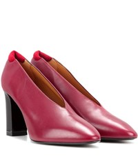 Acne Studios Aja Leather Pumps Red