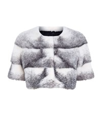 Lilly E Violetta Short Mink Fur Jacket Grey