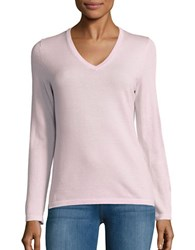 Lord And Taylor Merino Wool V Neck Sweater Sweetpea