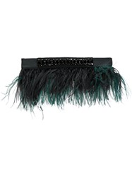 N 21 No21 Embellished Belt Polyester Ostrich Feather S