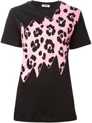 Moschino Cheap And Chic Animal Print T Shirt Black