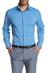 Peter Millar Mimi Performance Athletic Fit Check Woven Shirt Blue