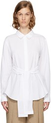 Alexander Wang T By White Tie Front Shirt