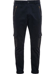 James Long Cargo Trousers Black