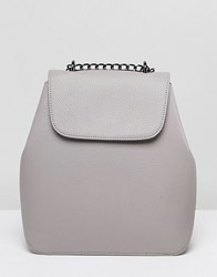 Asos Design Chain Strap Backpack Grey
