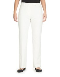 Chaus Emma Solid Pants White