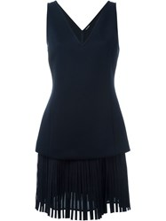 Neil Barrett Fringed Shift Dress Blue