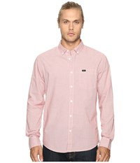 Rvca That'll Do Micro Long Sleeve Pompei Red Men's Clothing