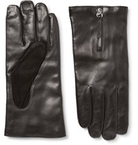 Want Les Essentiels Mozart Cashmere Lined Leather And Suede Gloves Black